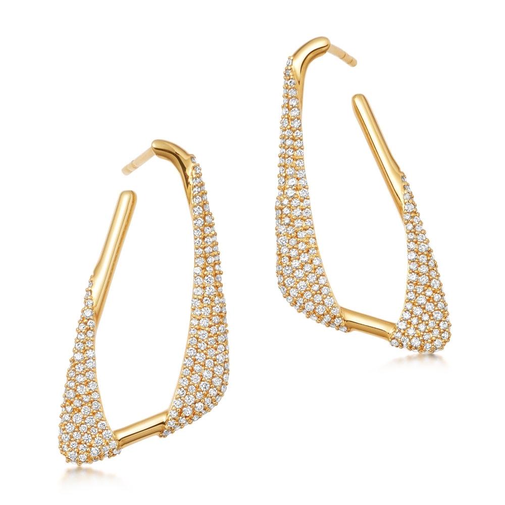 Vela Statement Hoop Earrings