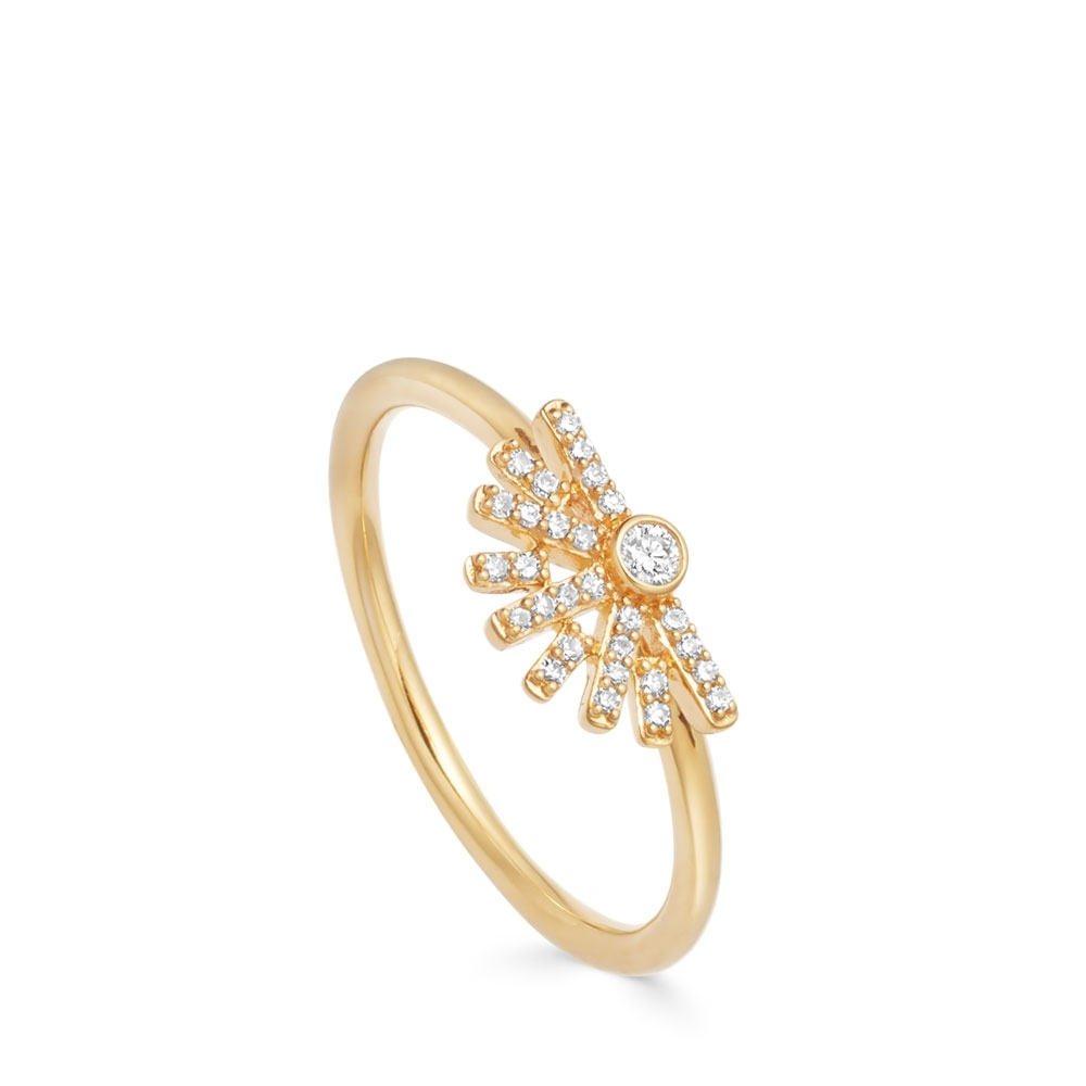 Setting Sun Diamond Ring