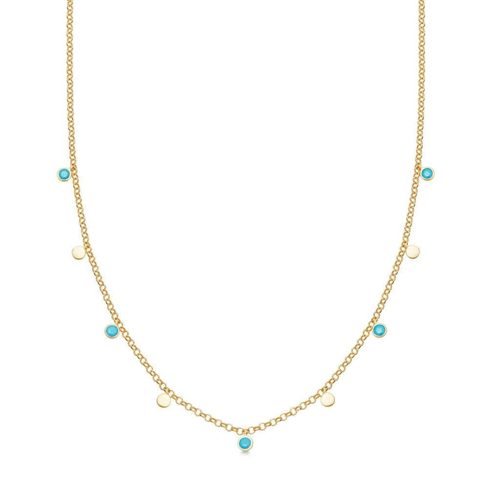 Turquoise Droplet Necklace