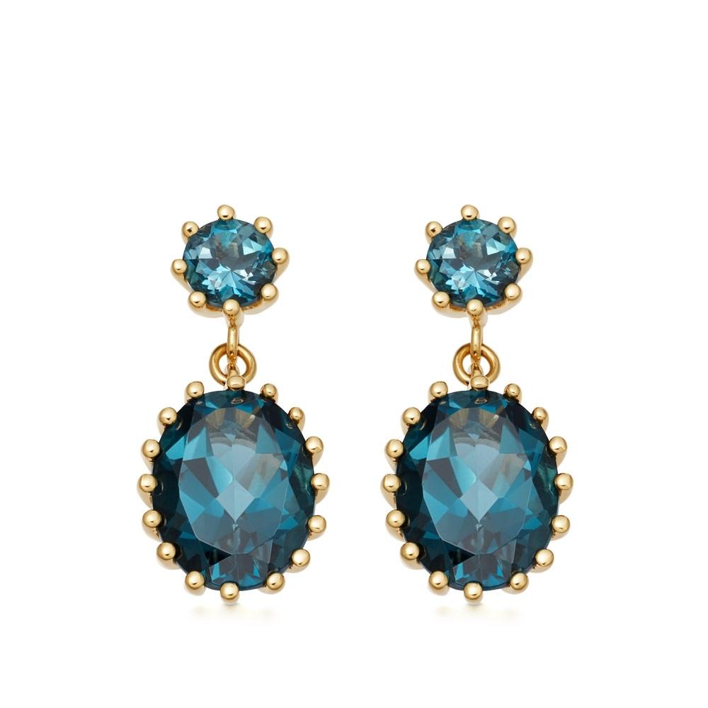 Linia London Blue Topaz Drop Earrings