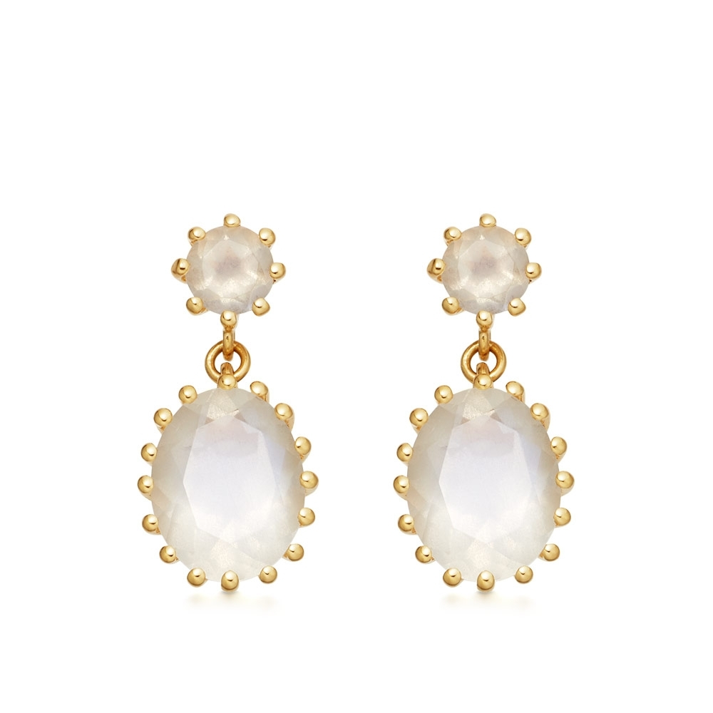 Linia Rainbow Moonstone Drop Earrings