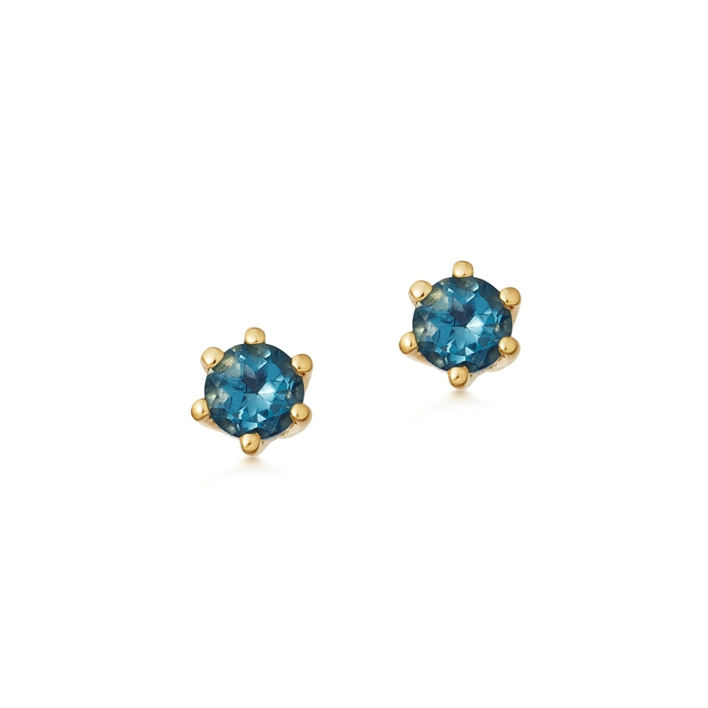 Linia London Blue Topaz Stud Earrings