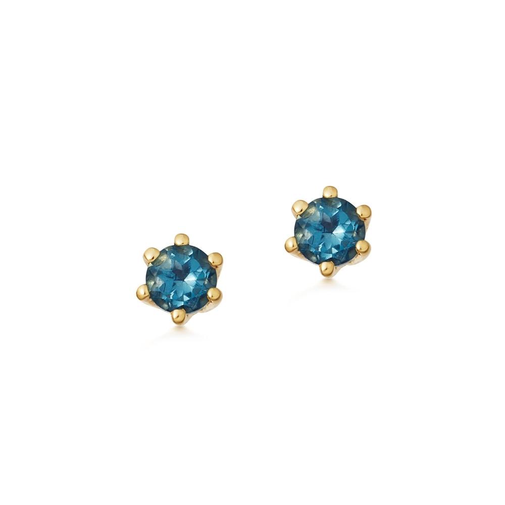 Linia London Blue Topaz Stud Earrings