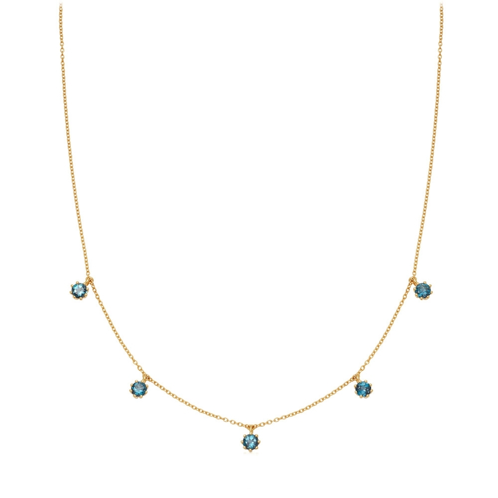 Linia London Blue Topaz Choker Necklace