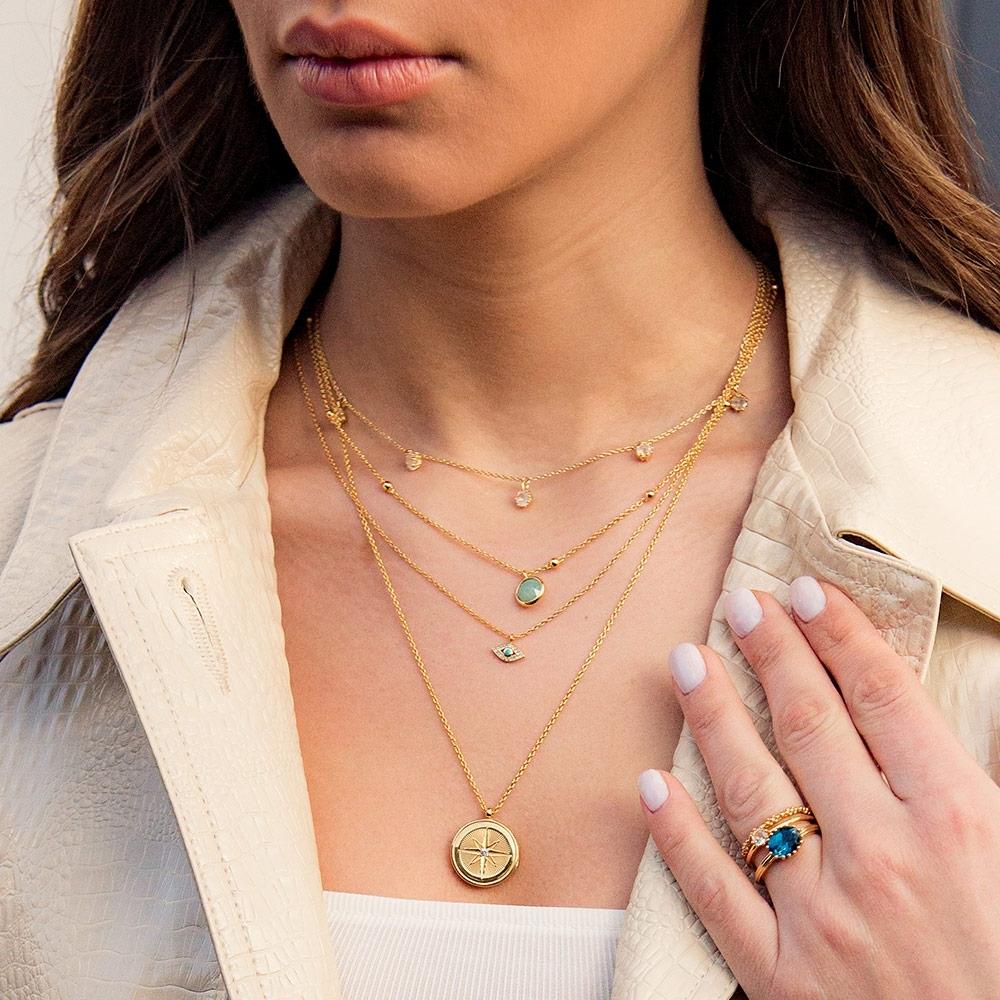 Linia Rainbow Moonstone Choker Necklace