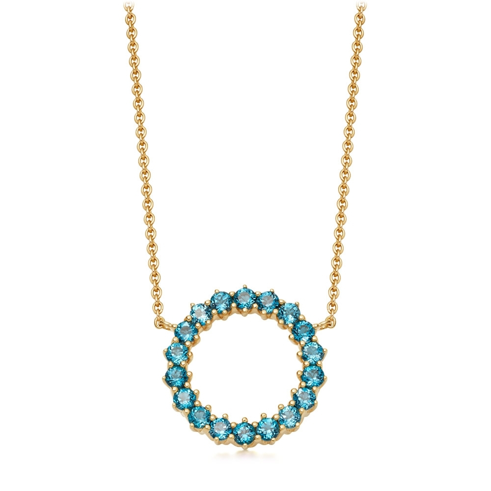 Linia London Blue Topaz Pendant Necklace
