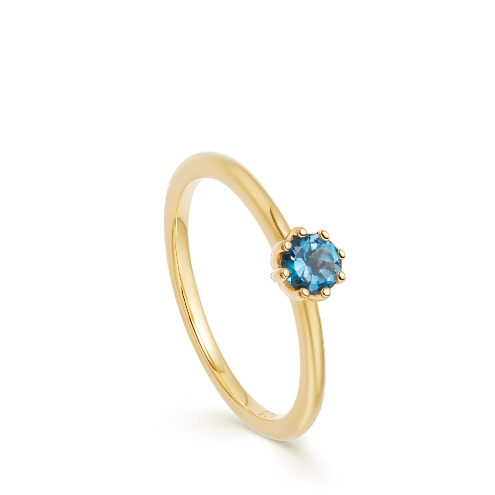 Mini Linia London Blue Topaz Ring