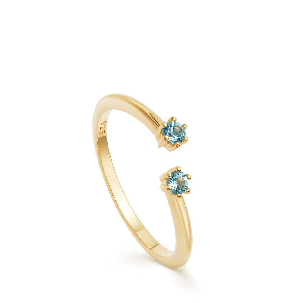 Linia London Blue Topaz Open Ring