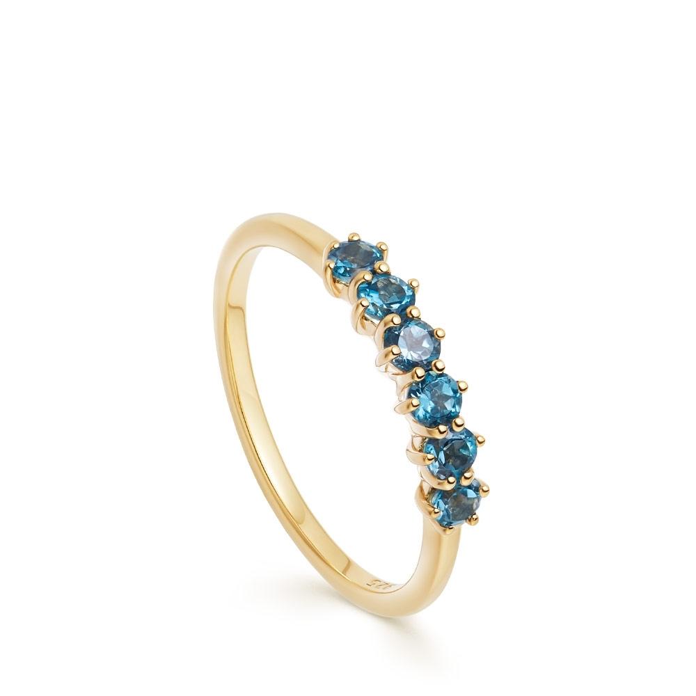 Linia London Blue Topaz Ring