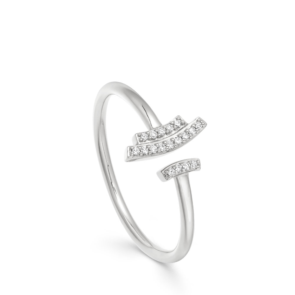 Mini Open Icon Scala Diamond Ring