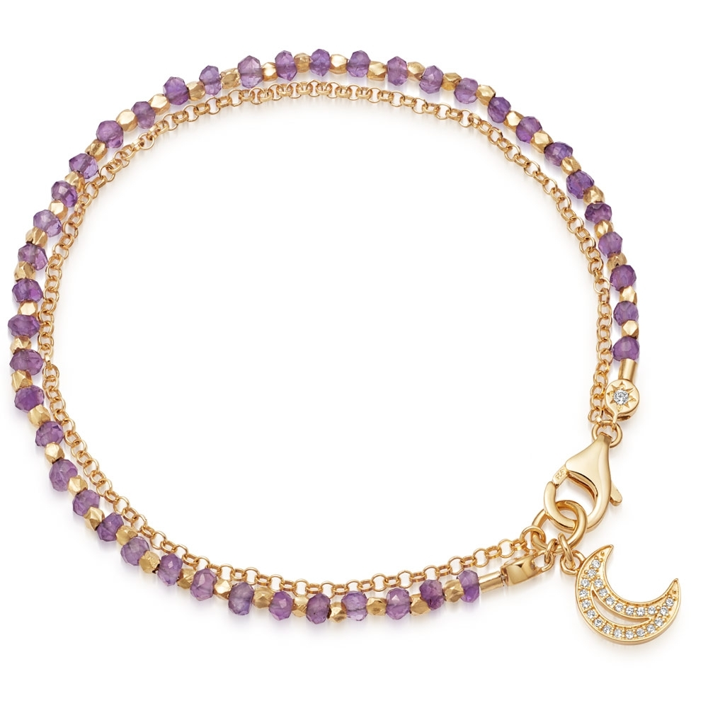 Amethyst Moon Biography Bracelet
