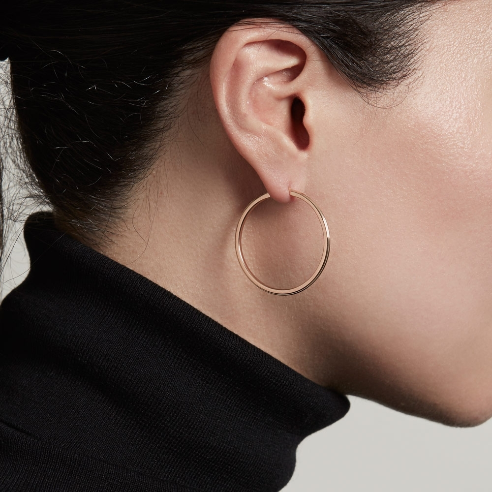 Large Linia Hoop Earrings