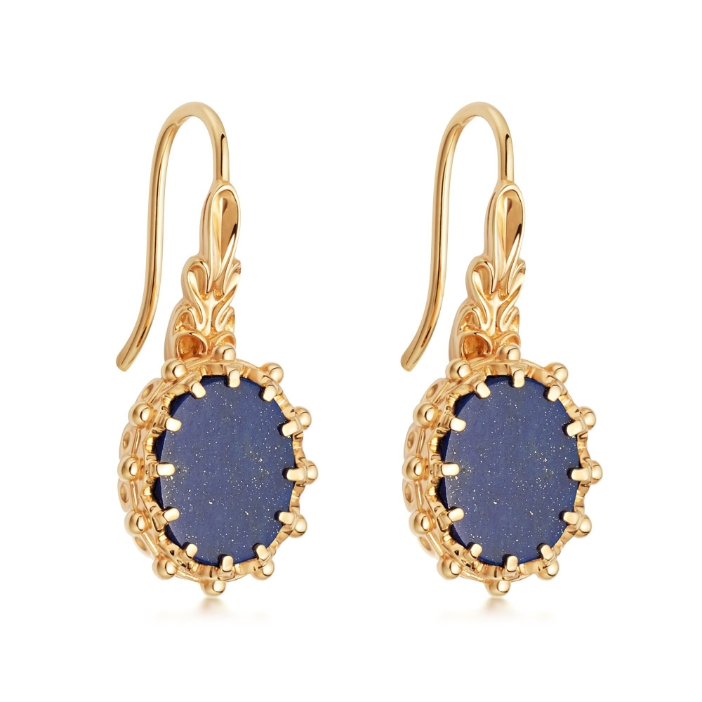 Lapis Floris Drop Earrings