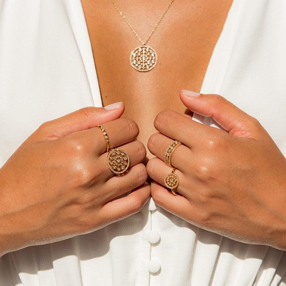 Medium Icon Nova Diamond Ring