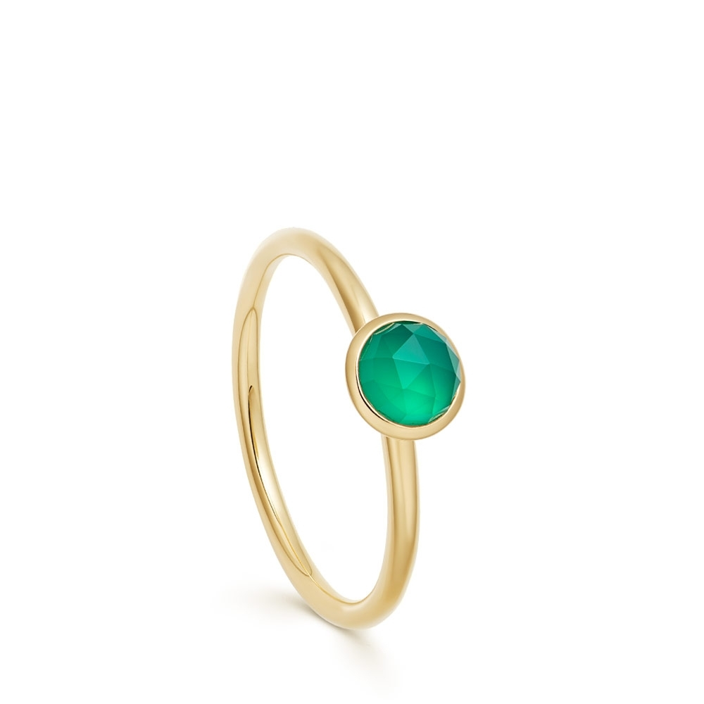 Mini Stilla Green Onyx Ring