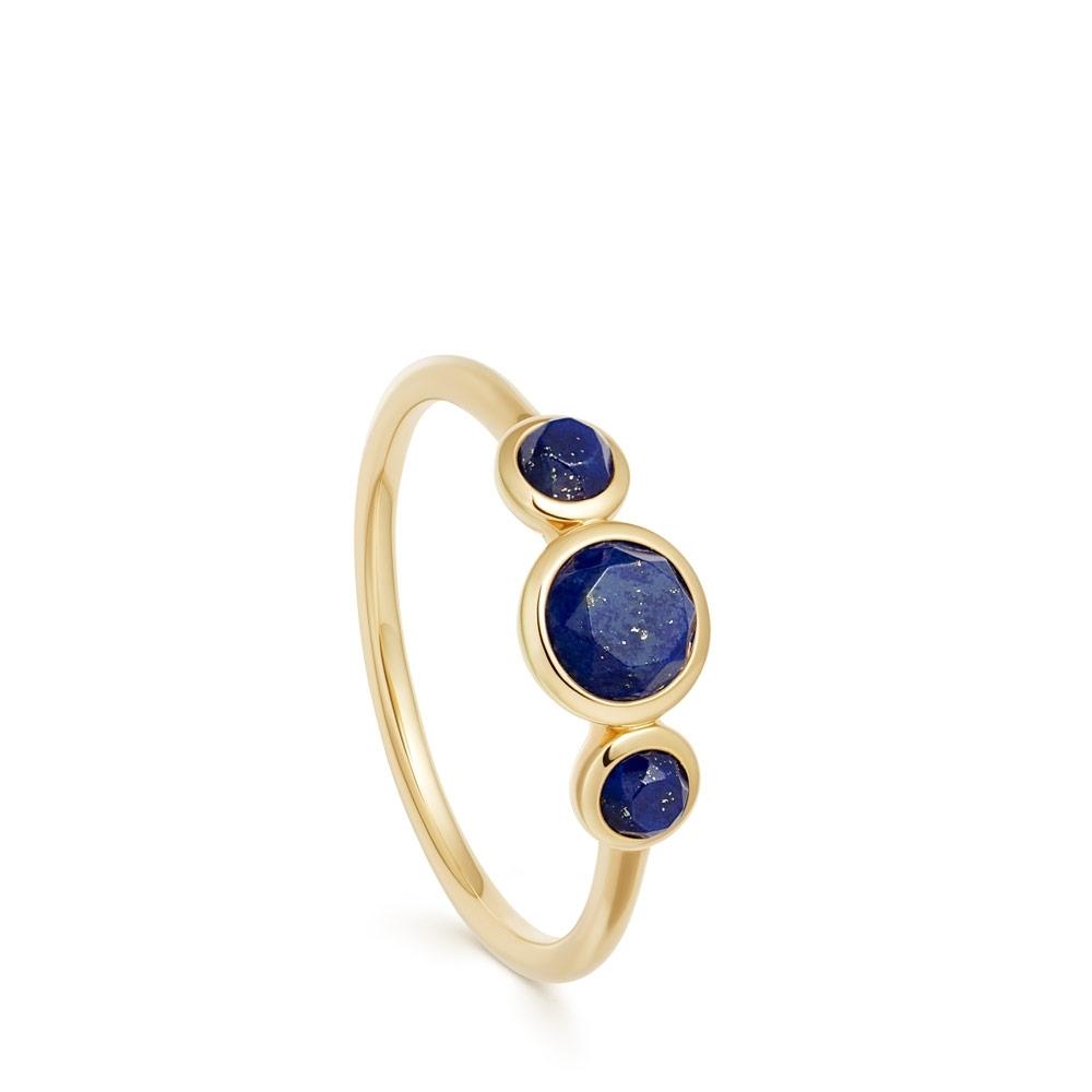 Stilla Triple Lapis Lazuli Ring