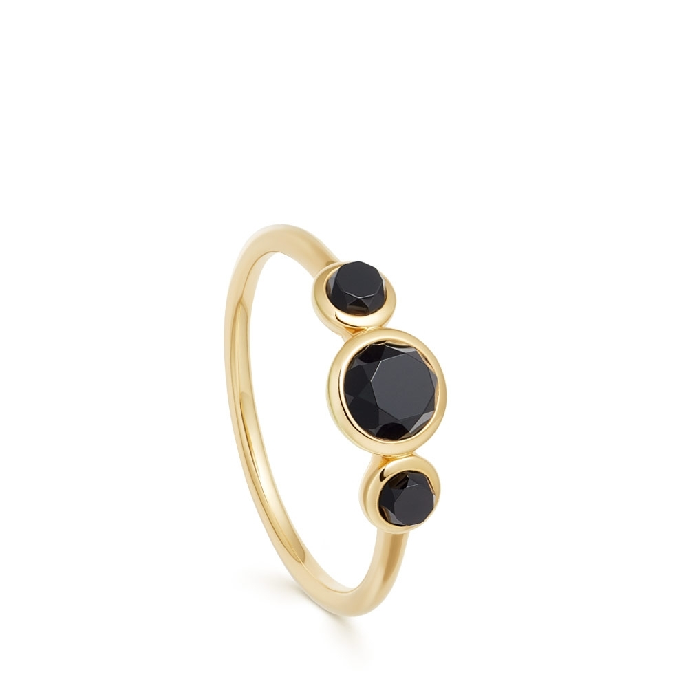 Stilla Triple Black Onyx Ring