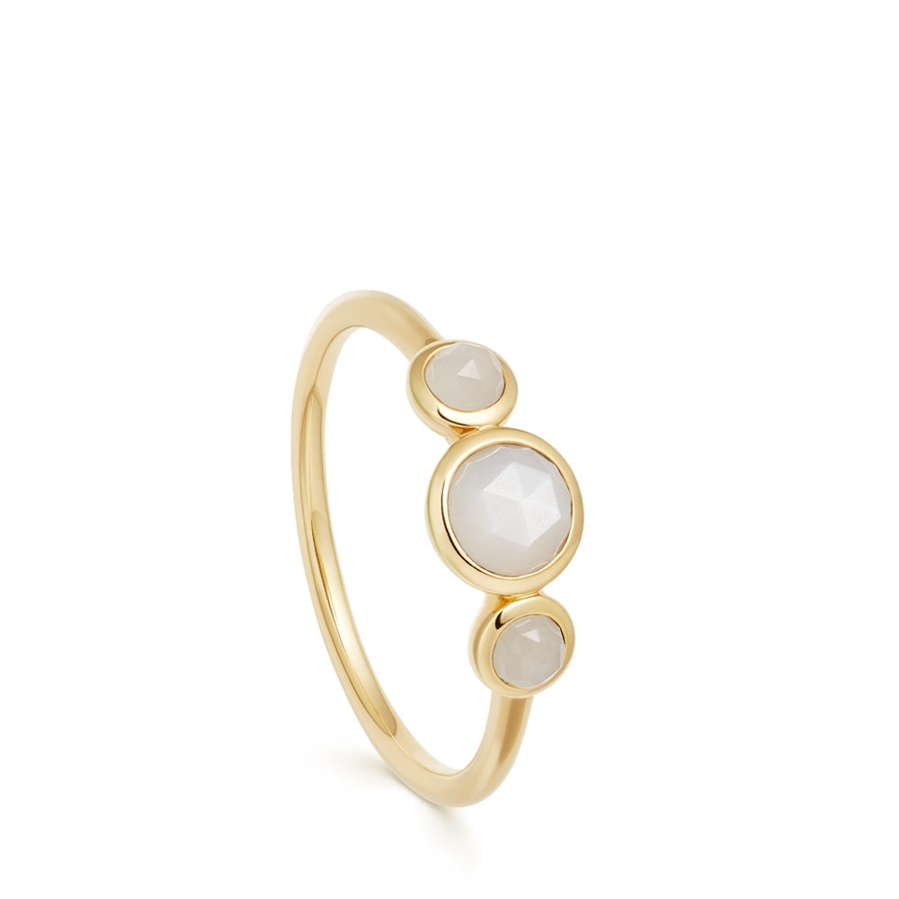 Stilla Triple Moonstone Ring