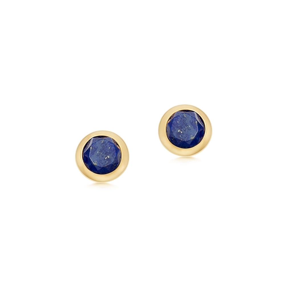 Mini Stilla Lapis Lazuli Stud Earrings