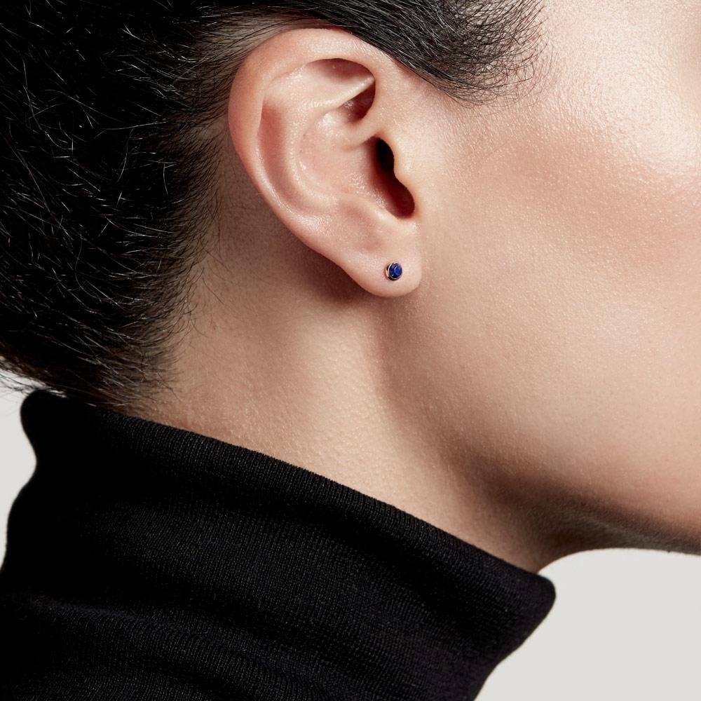 Mini Stilla Lapis Lazuli Stud Earrings