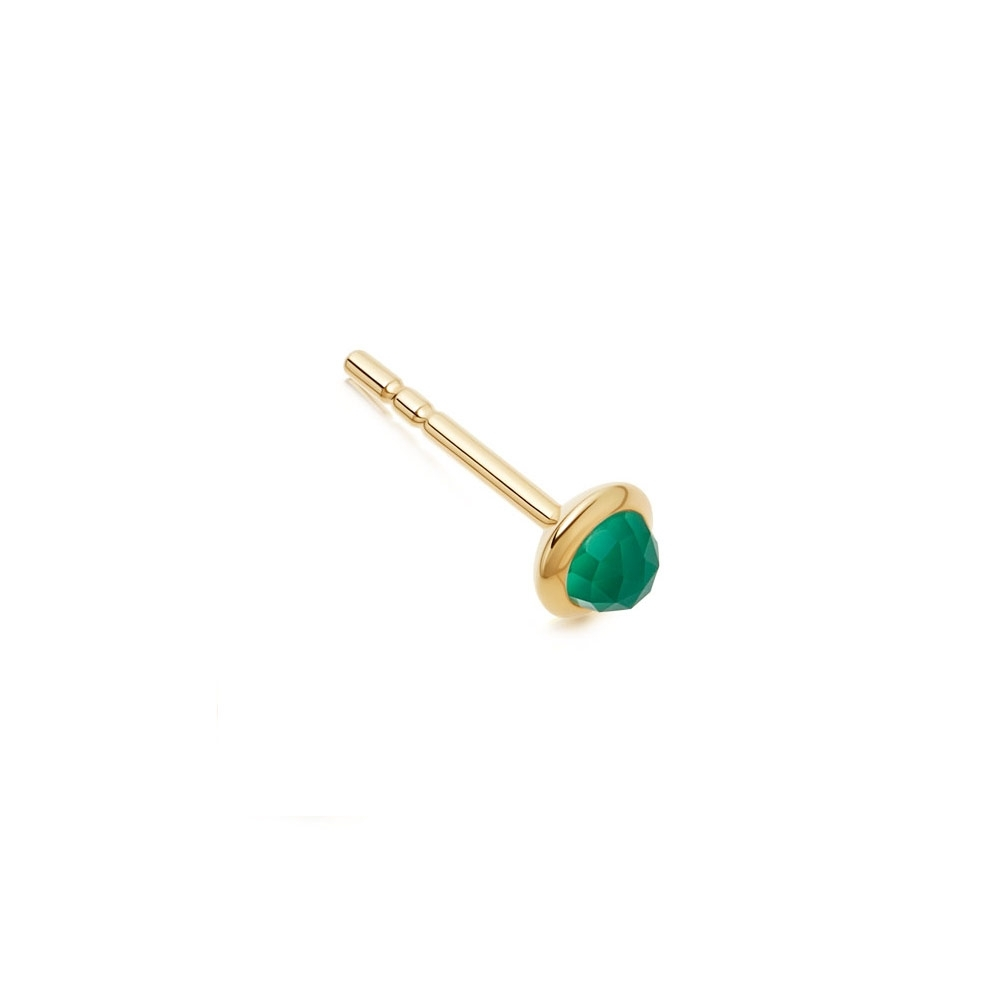 Mini Stilla Green Onyx Single Stud Earring