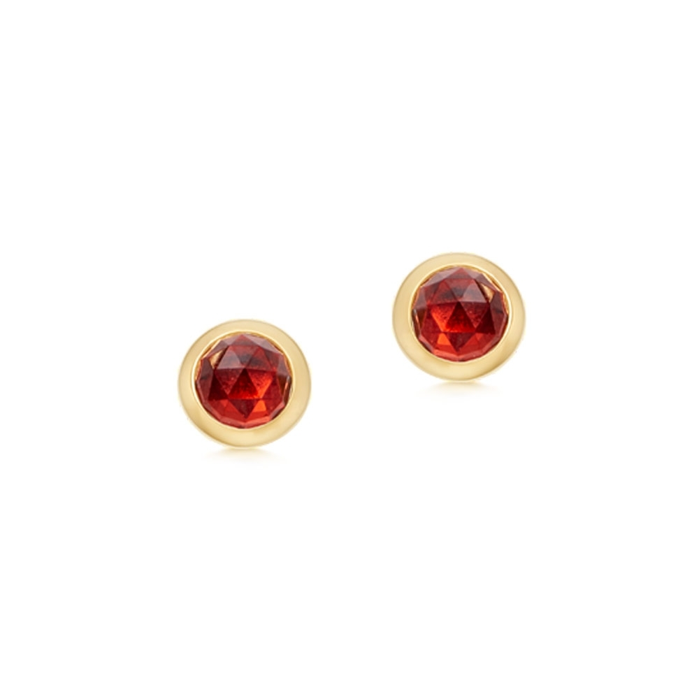 Mini Stilla Garnet Stud Earrings