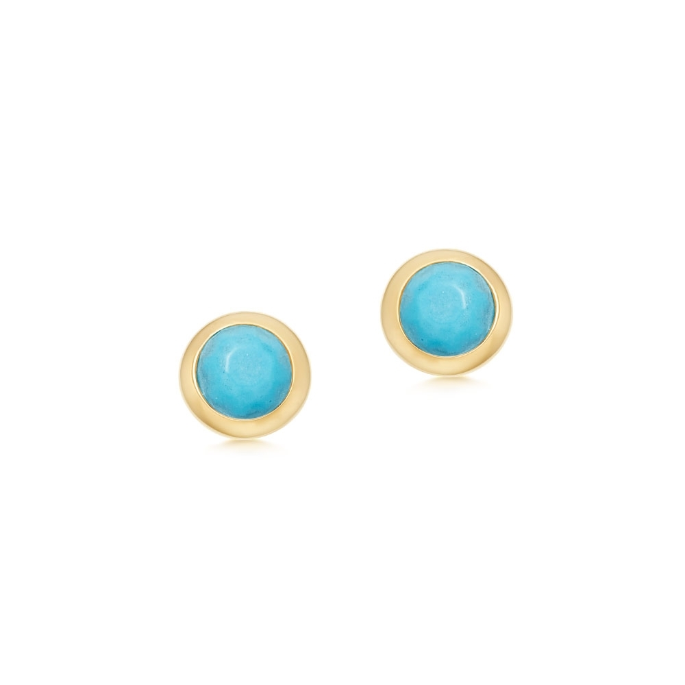 Mini Stilla Turquoise Stud Earrings