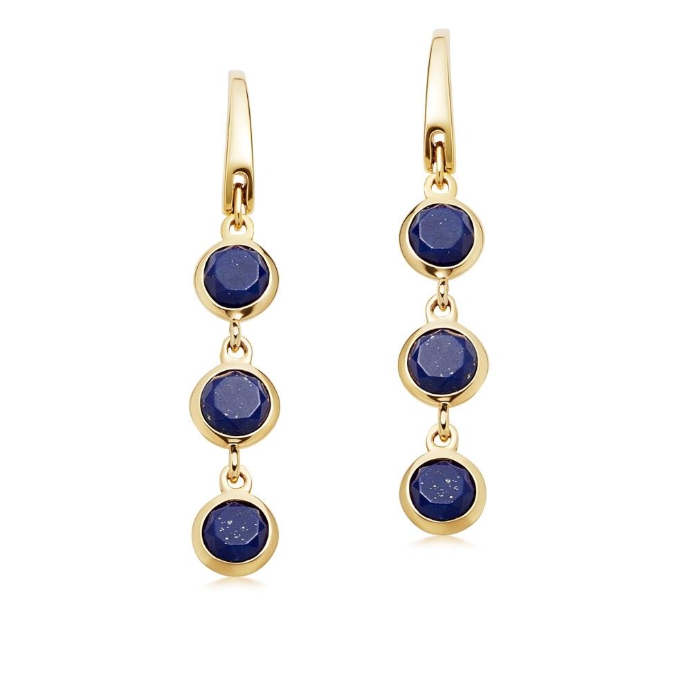 Stilla Triple Lapis Lazuli Drop Earrings