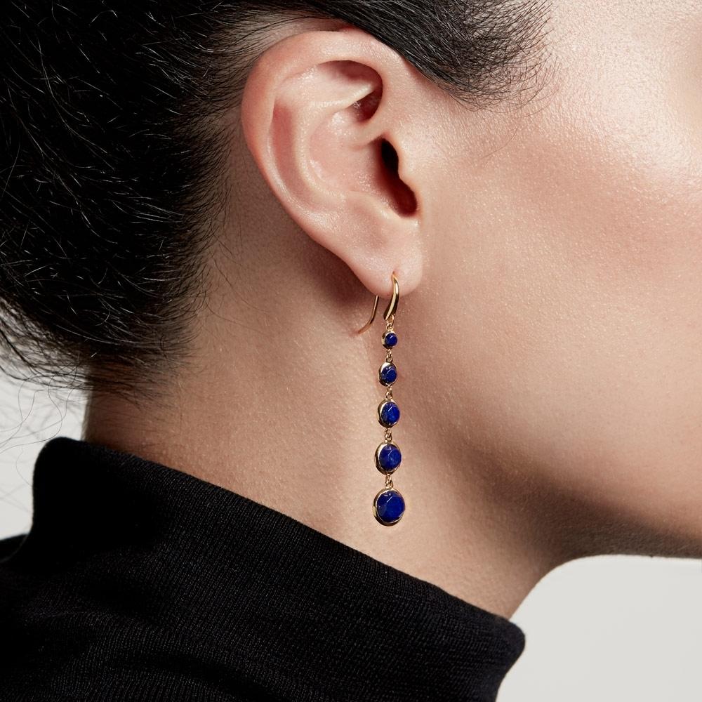 Stilla Cascade Lapis Drop Earrings