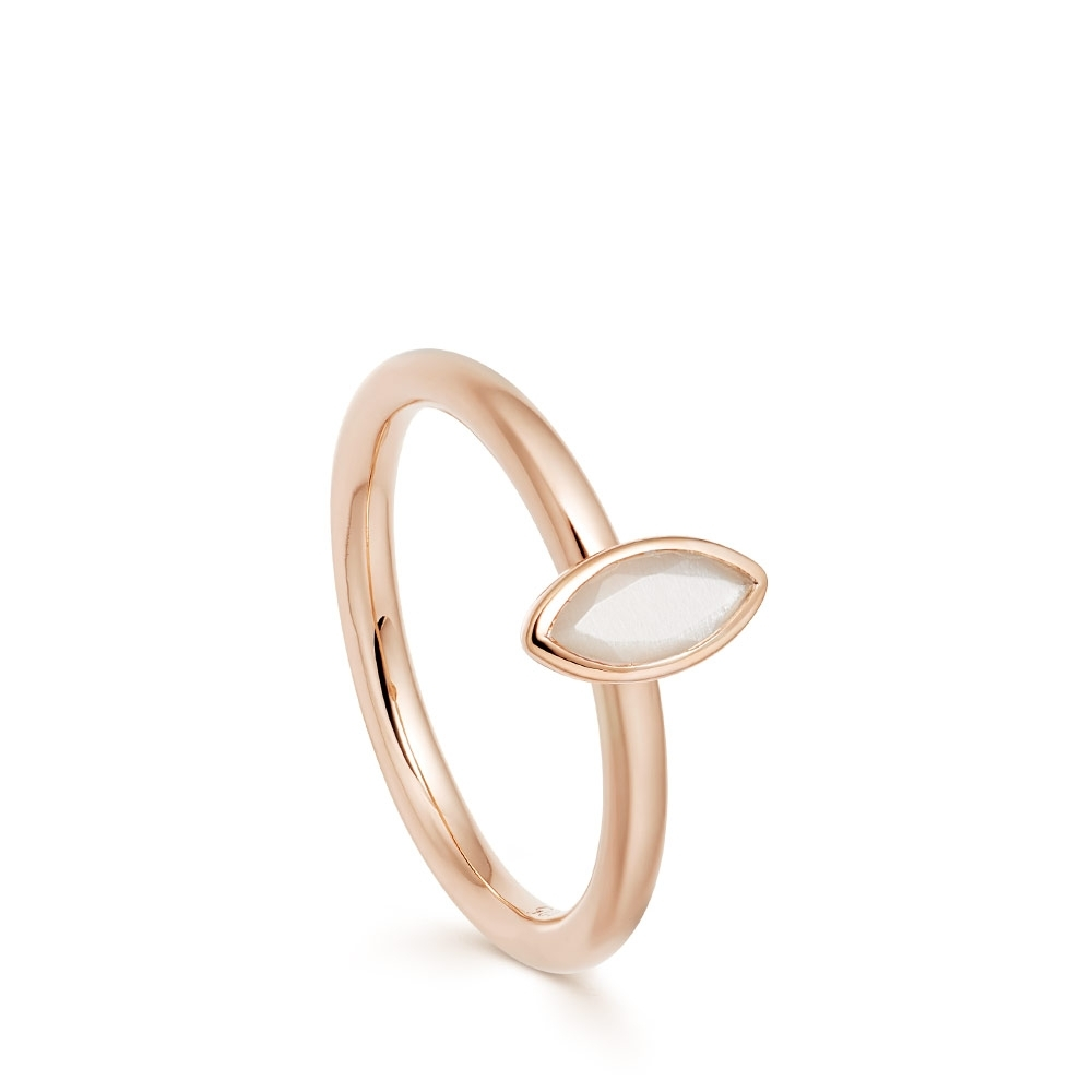 Paloma Petal Moonstone Rose Gold Ring