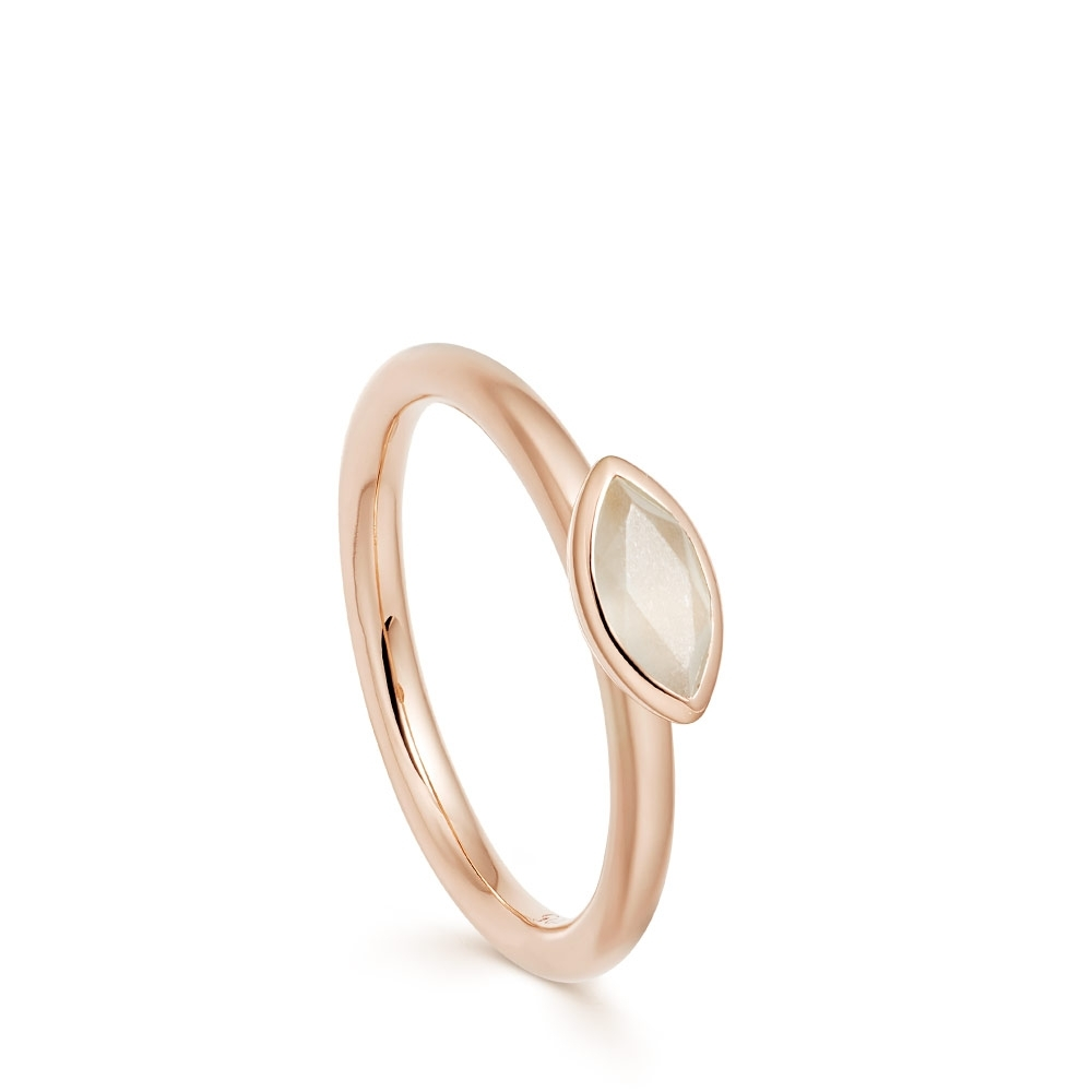 Paloma Fallen Petal Moonstone Rose Gold Ring