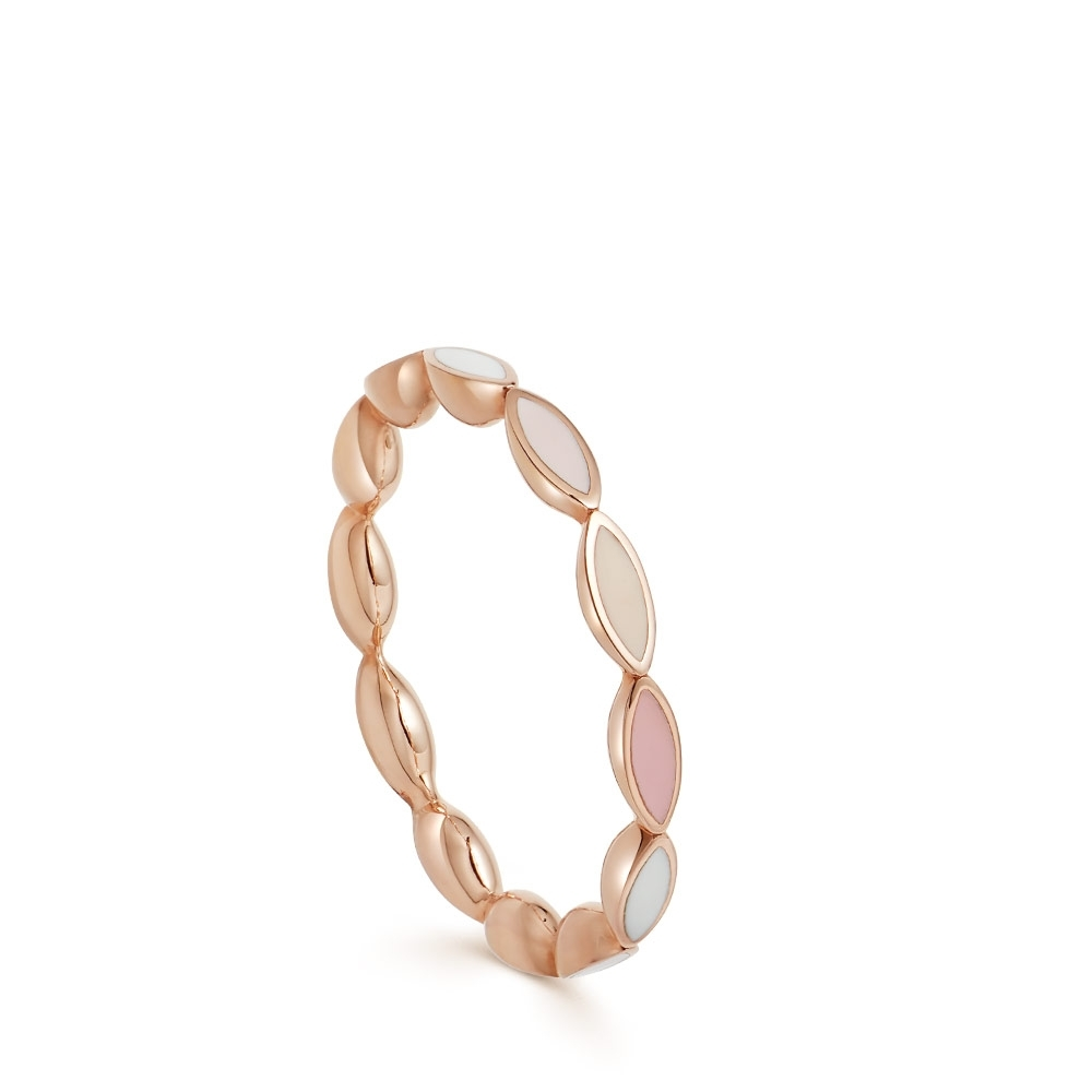 Paloma Petal Rose Gold Eternity Ring
