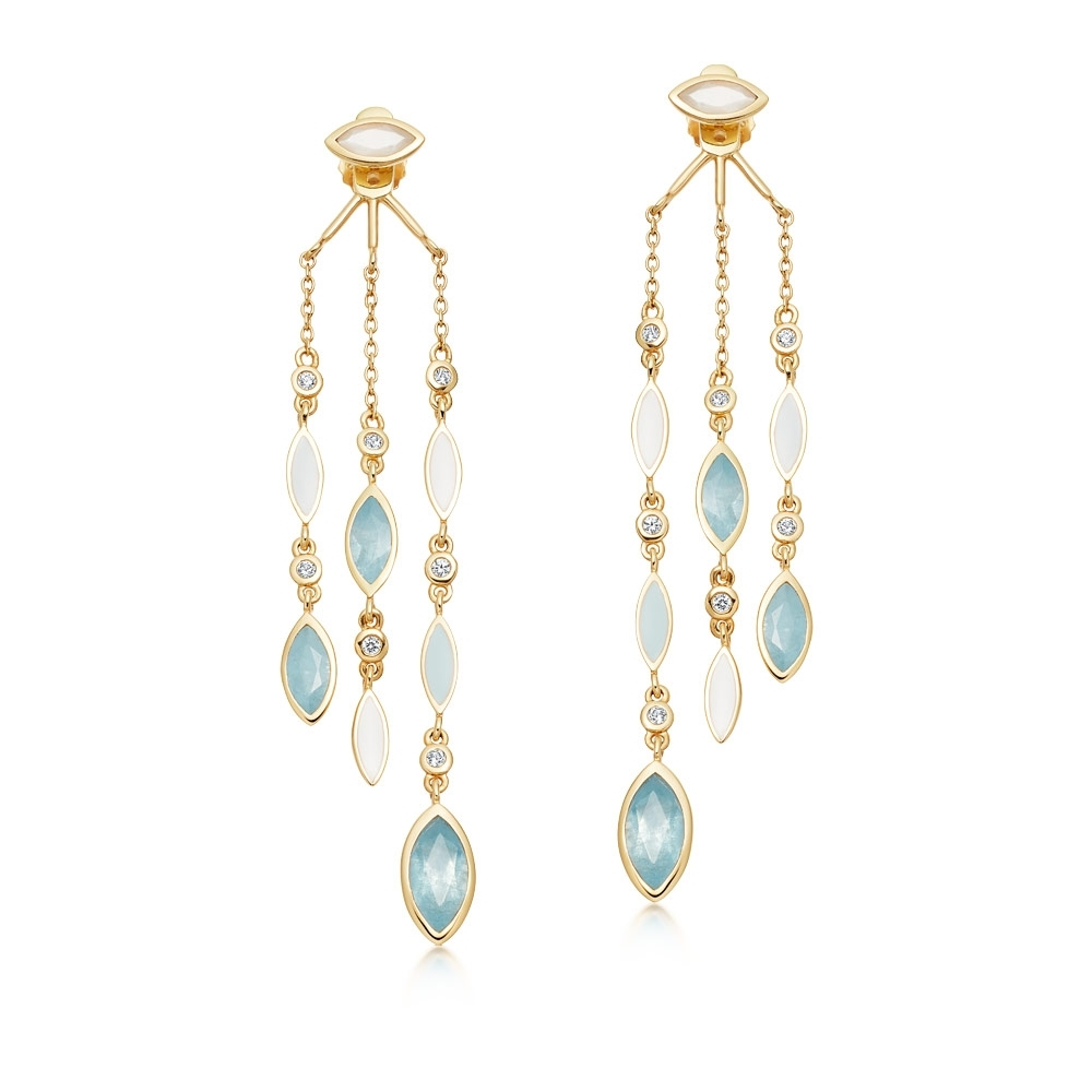 Large Paloma Fallen Petal Gold Drop Earrings