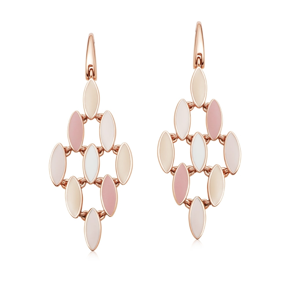 Paloma Fallen Petal Rose Gold Drop Earrings