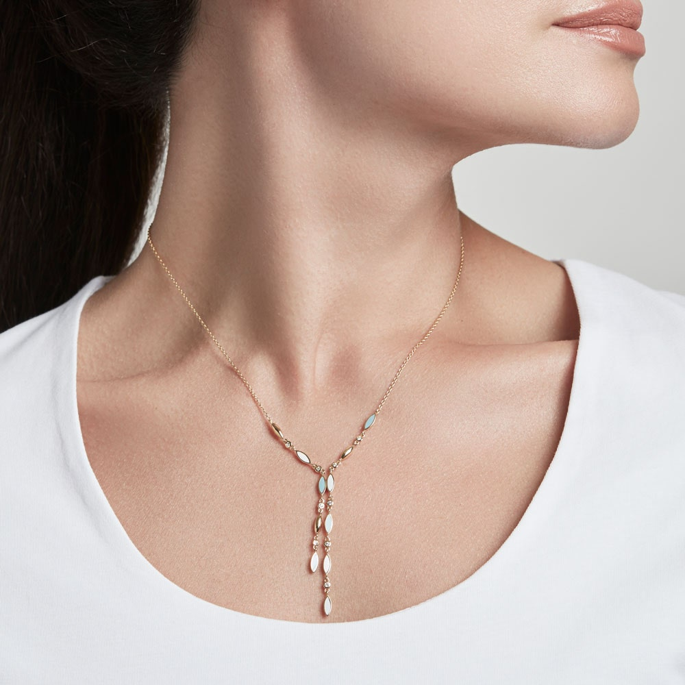 Paloma Petal Gold Pendant Necklace