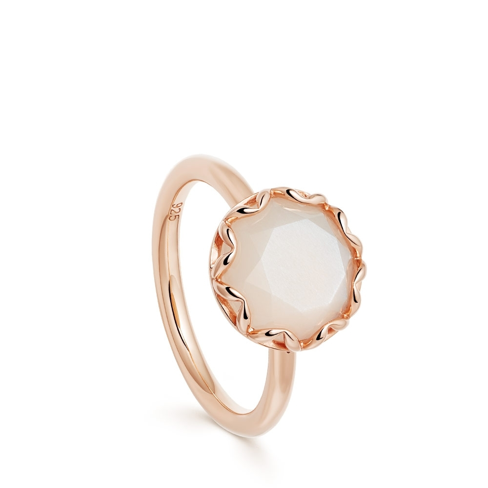 Paloma Moonstone Rose Gold Ring