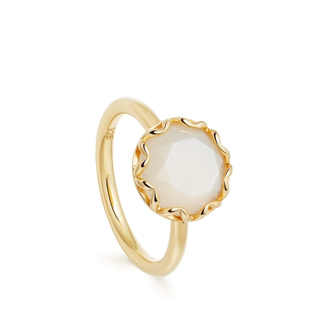 Paloma Moonstone Gold Ring