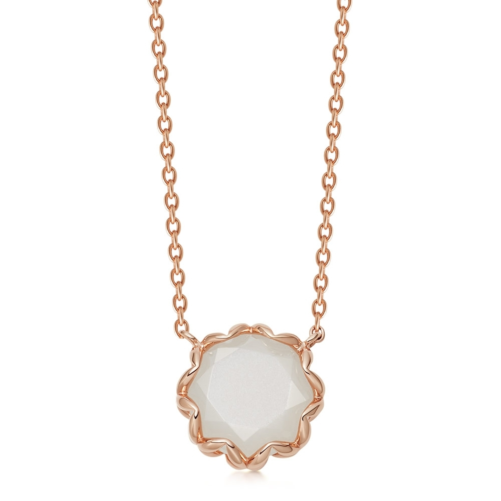 Paloma Moonstone Rose Gold Pendant Necklace