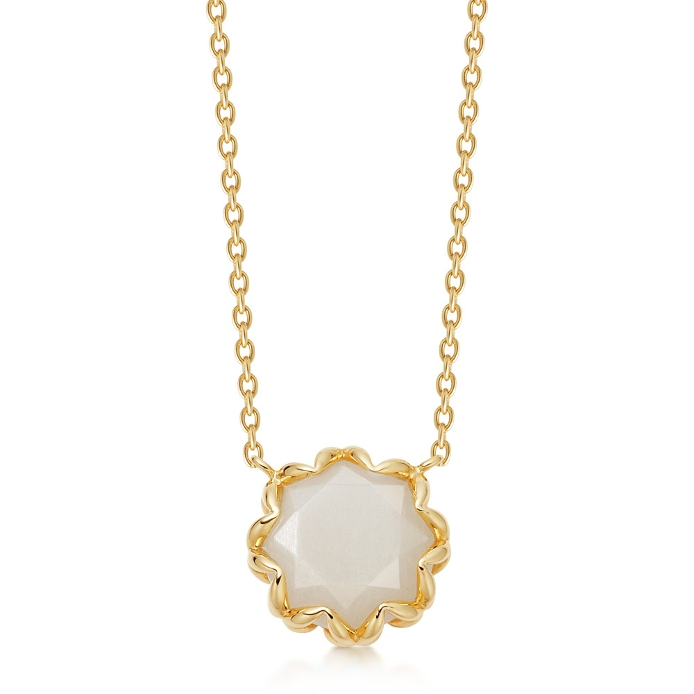 Paloma Moonstone Gold Pendant Necklace