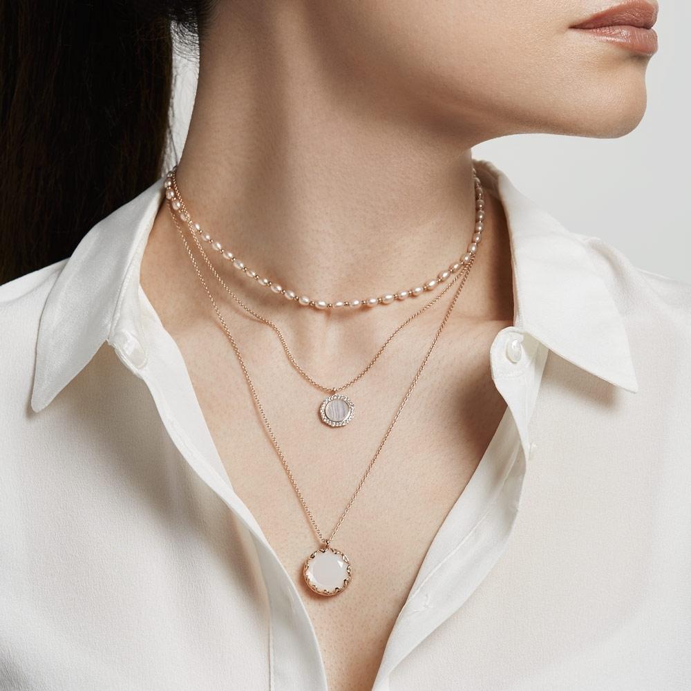 Paloma Moonstone Locket Necklace