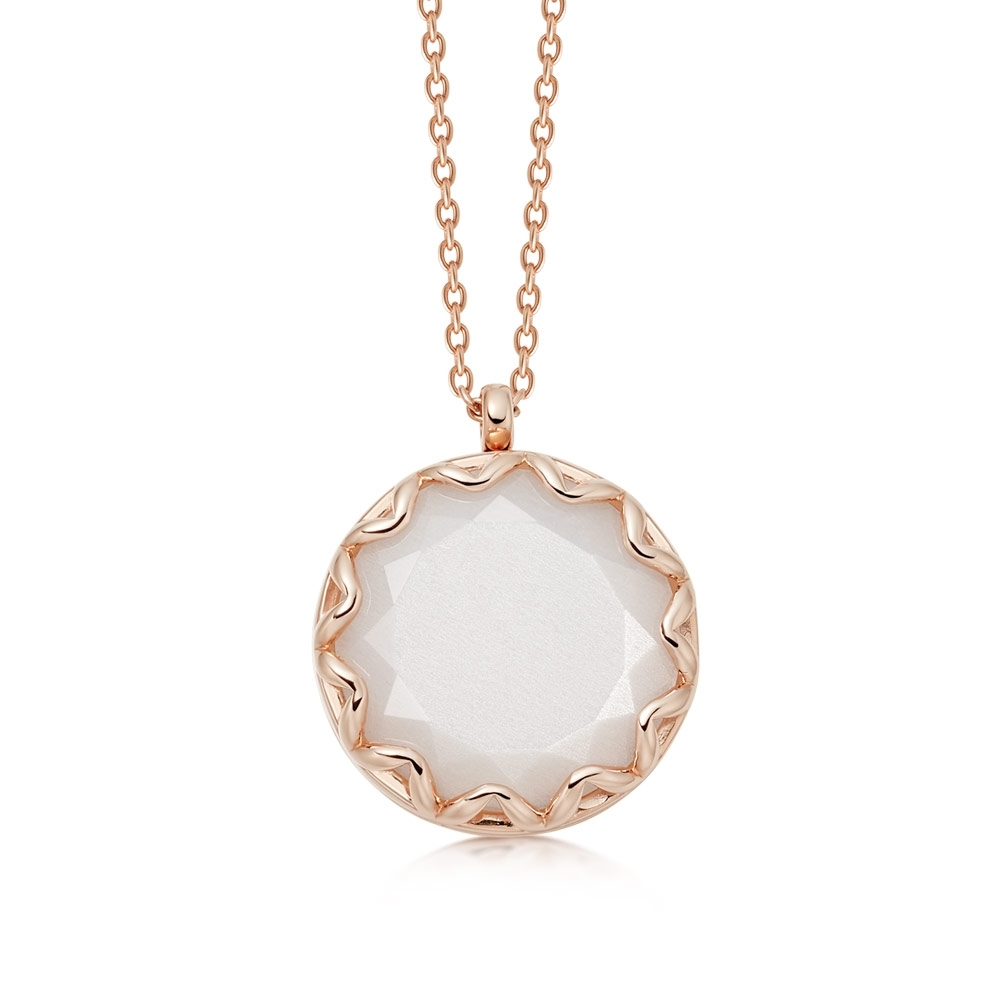 Paloma Moonstone Rose Gold Locket Necklace