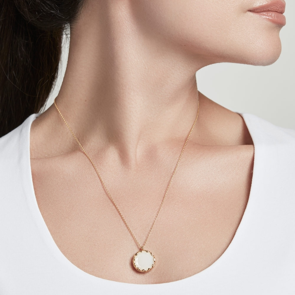 Paloma Moonstone Gold Locket Necklace
