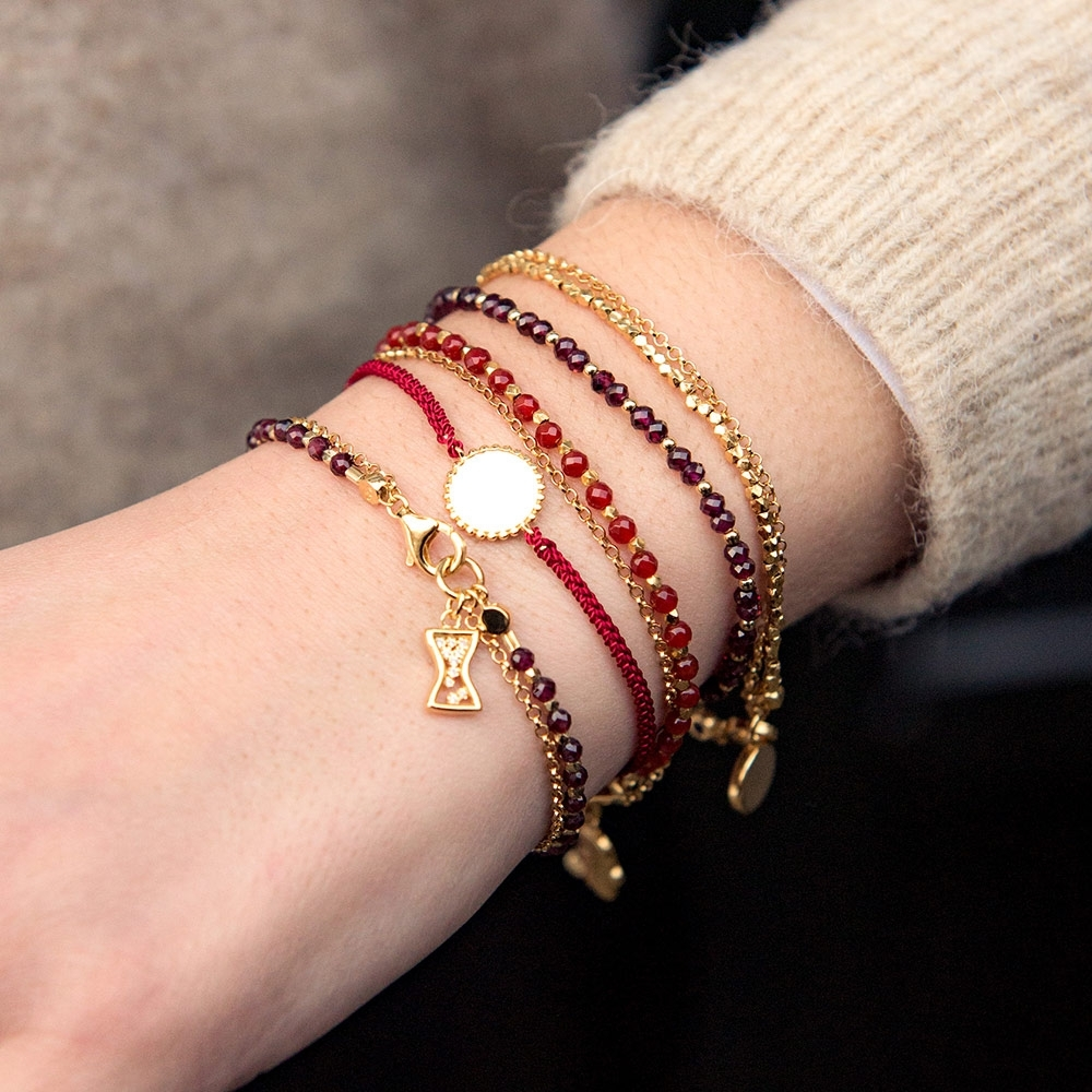 Beaded Engravable Protection Skinny Bracelet