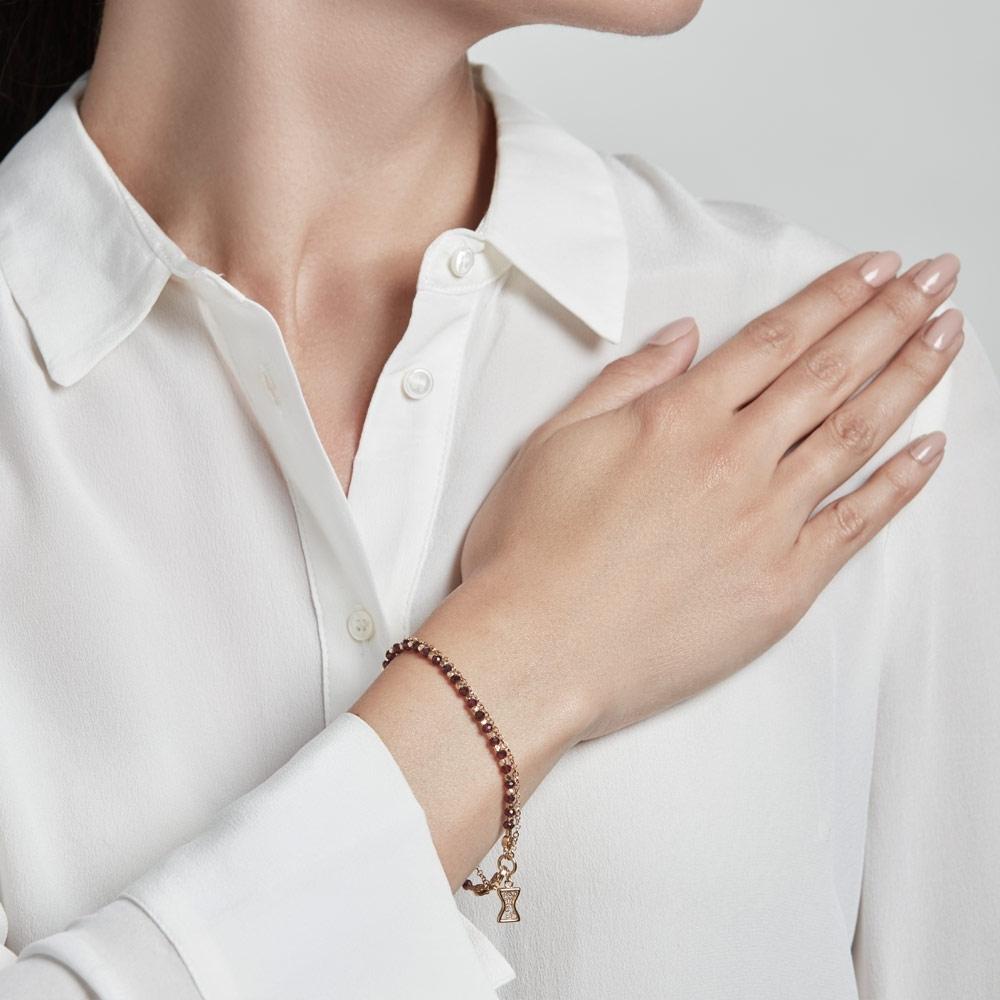 Rhodolite Hourglass Biography Bracelet