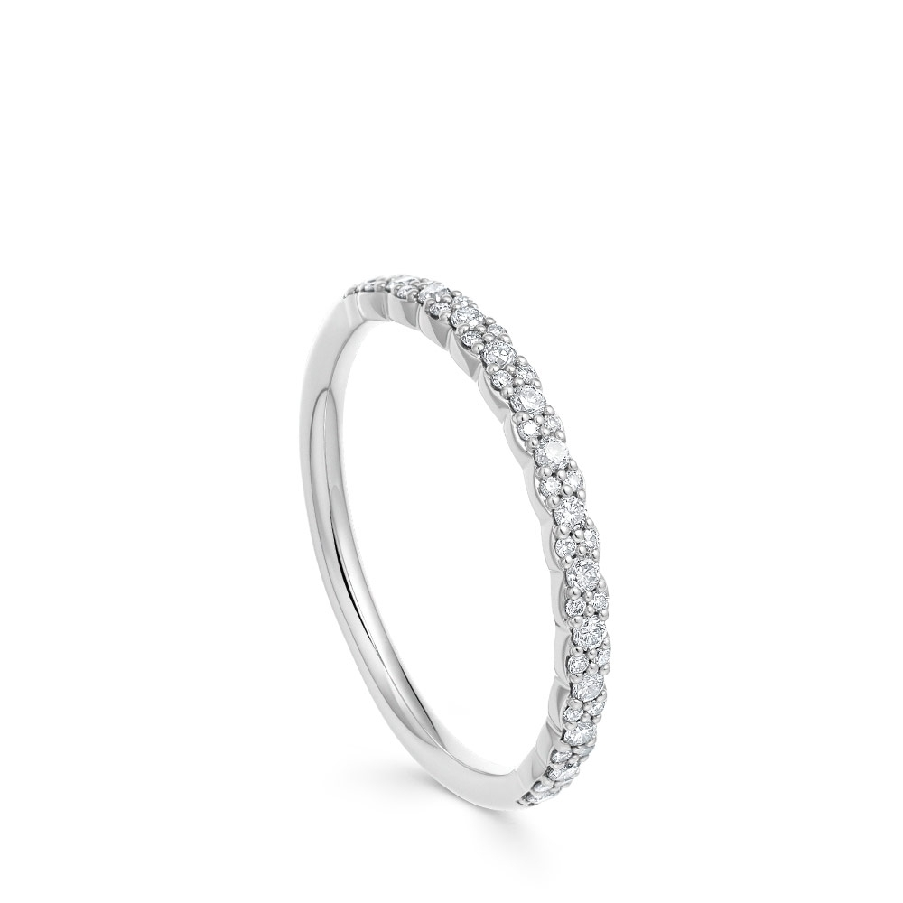 Interstellar Half Diamond Eternity Ring
