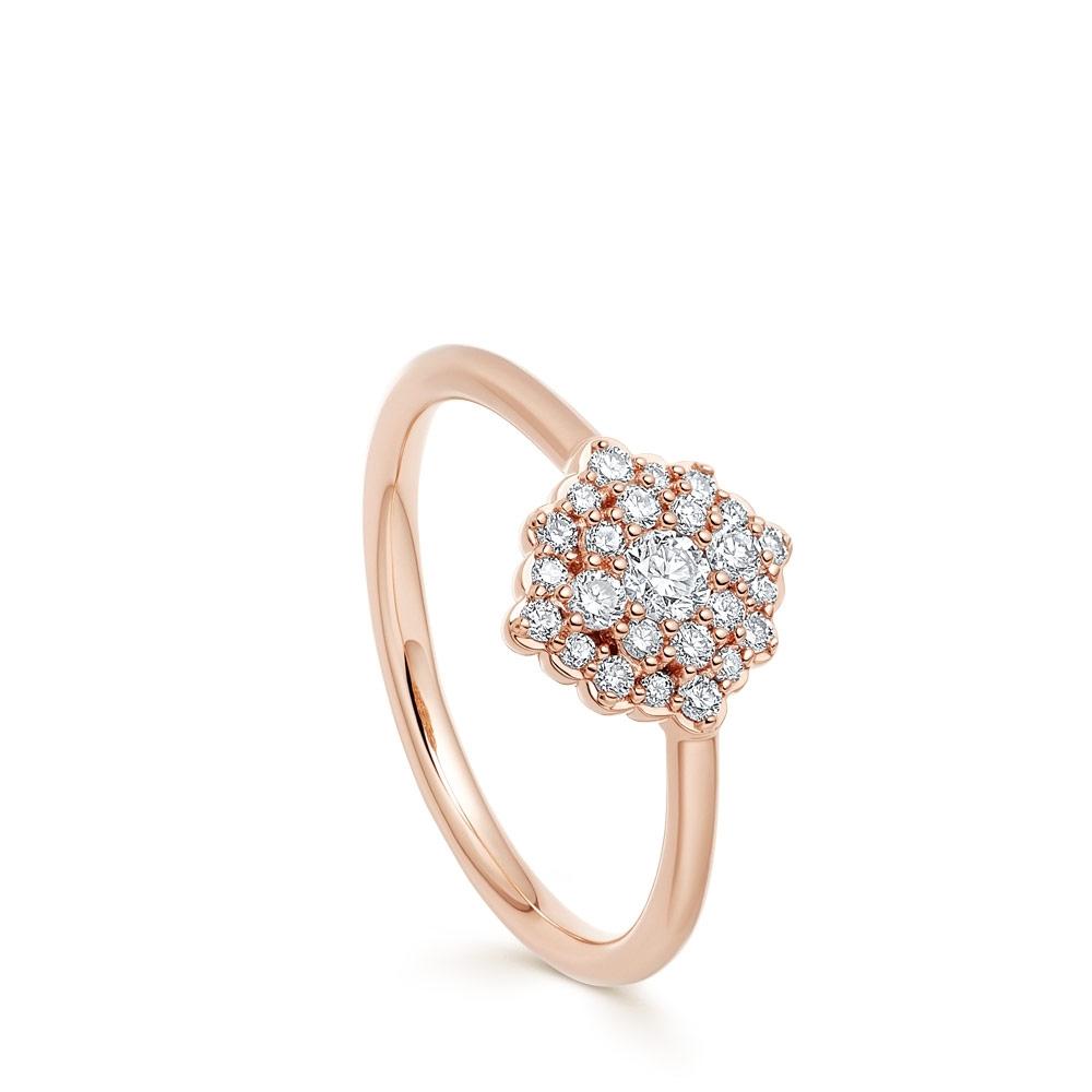 Large Interstellar Cluster Diamond Ring