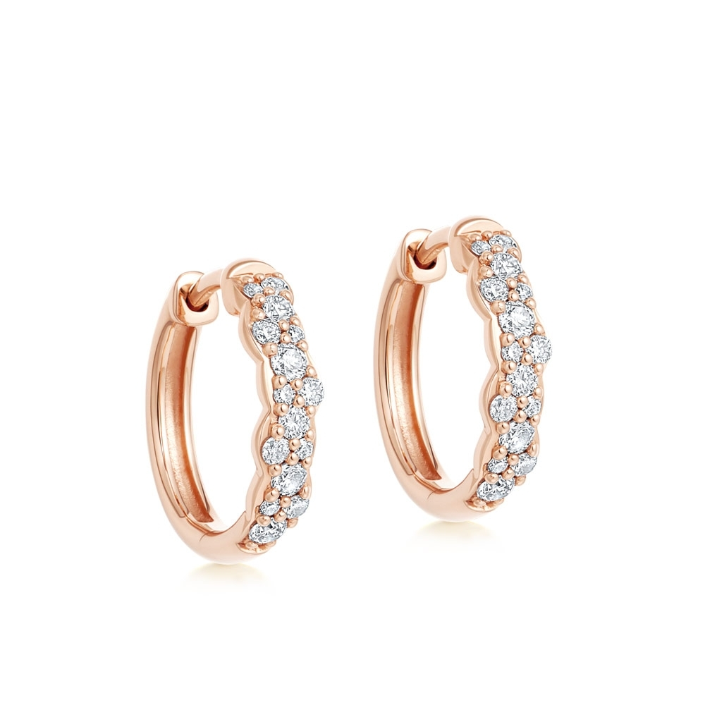 Medium Interstellar Diamond Hoop Earrings