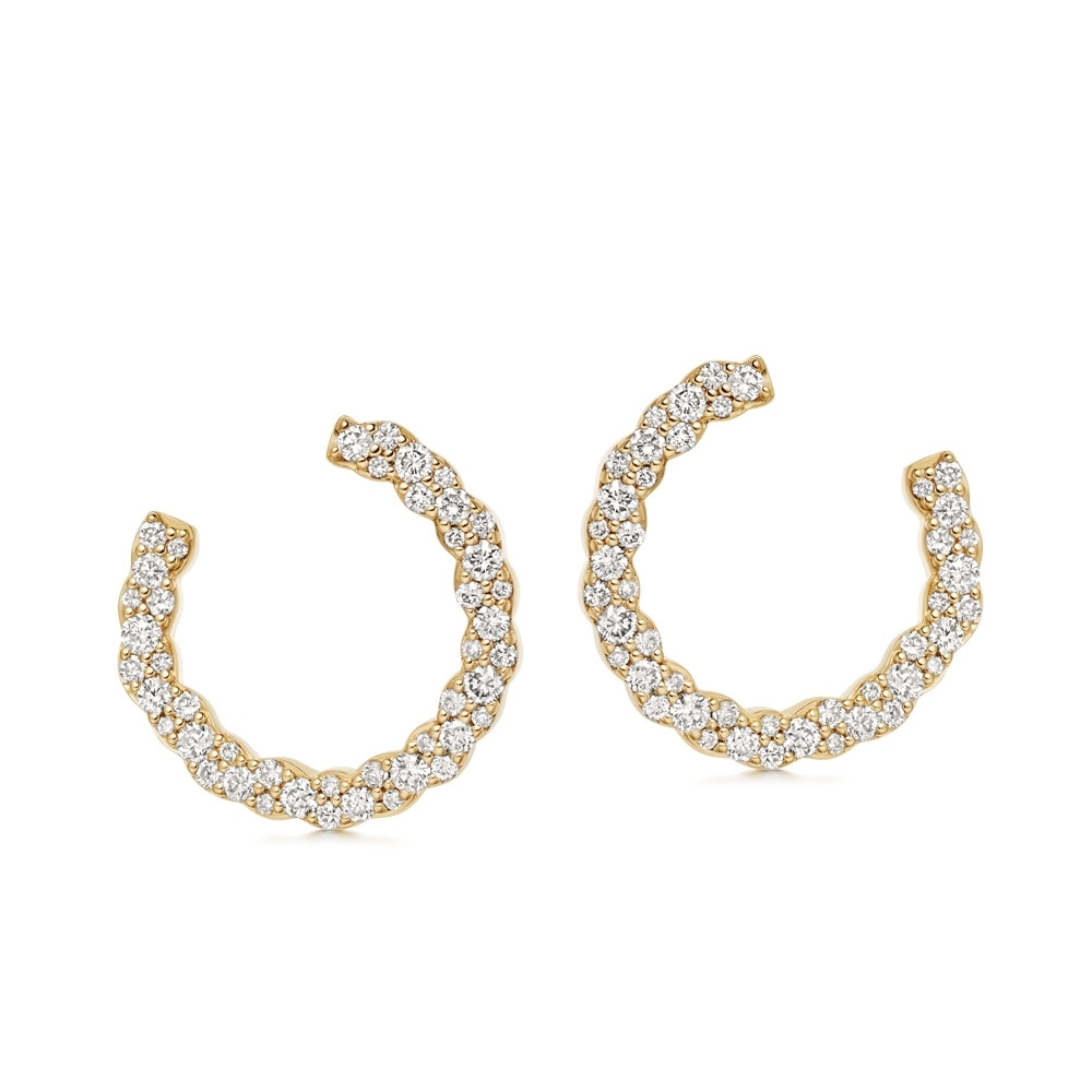 Interstellar Eclipse Diamond Hoop Earrings