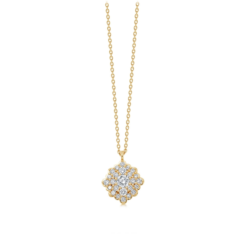 Interstellar Cluster Diamond Pendant Necklace