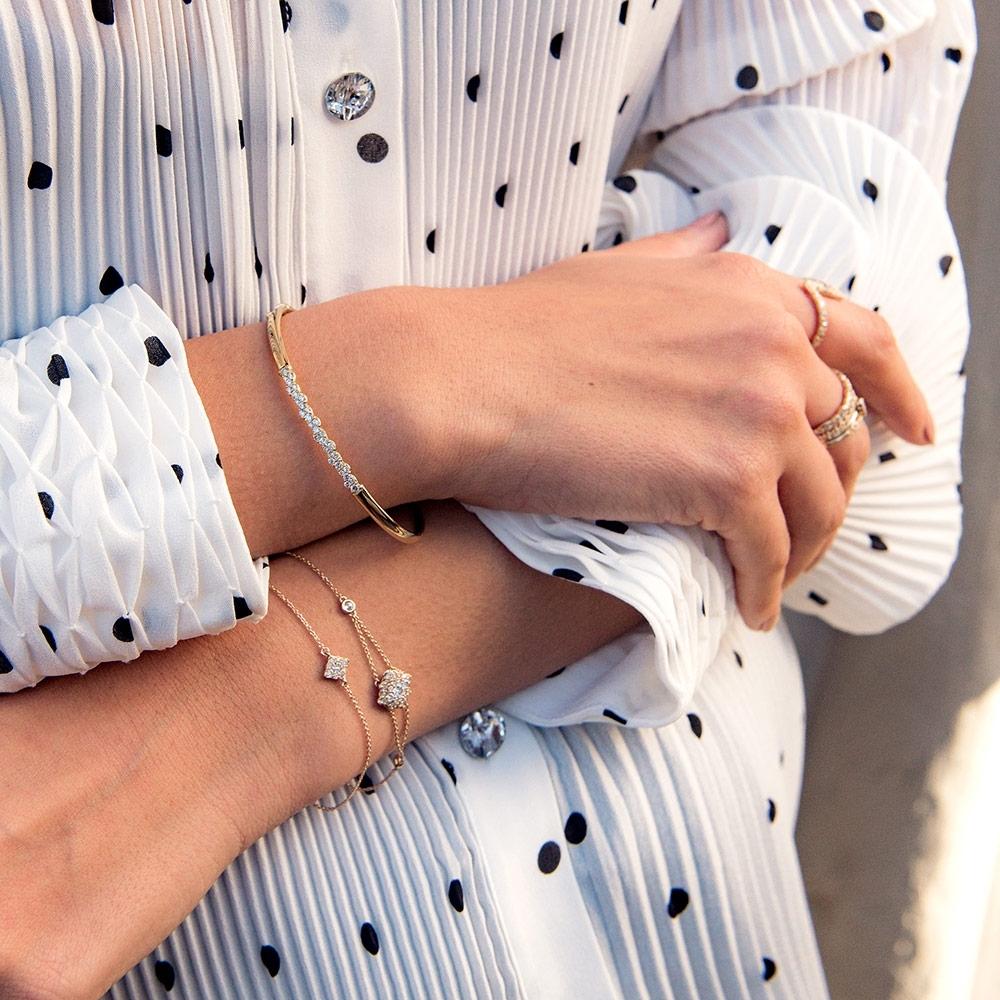 Mini Interstellar Cluster Diamond Bracelet